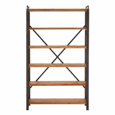 New Foundry Industrial Style Metal and Fir Wood Shelf Unit
