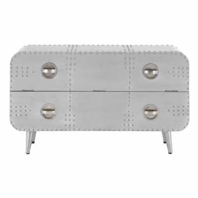 Aluminium Aviator 2 Drawer Chest with Drop Down Front Section