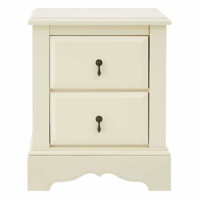 Traditional Florence Ivory 2 Drawer Chest With Metal Pendant Handles