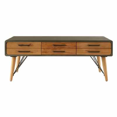 trinity coffee table with six drawers