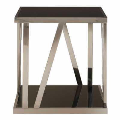 Ackley Square Side Table With Bottom Shelf