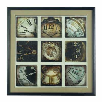 Vintage Style Polyresin Framed Multi Picture Time Has Come Wall Art