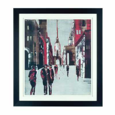 Framed Drawing City Wall Art