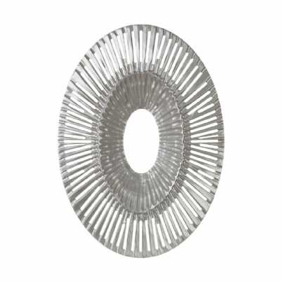 Oval Silver Finished Modern Art Wall Sculpture