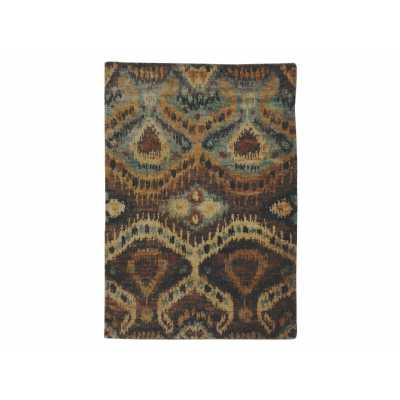 Large Traditional Britanny Rug Earth Tones Lustrous Jute 160X230cm