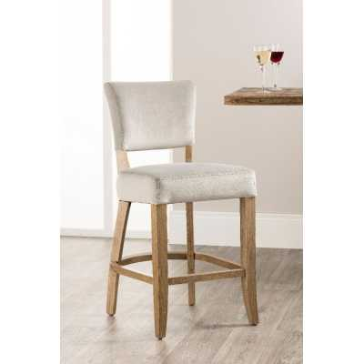 Bourton Bar Stool Grey Velvet