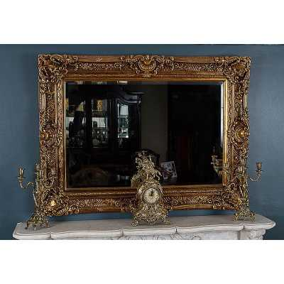 Chester Embellished Wall Mirror with Antique Gold Frame