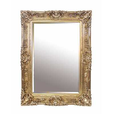 Formal Chester Resin Wall Mirror with Antique Silver Carved Frame