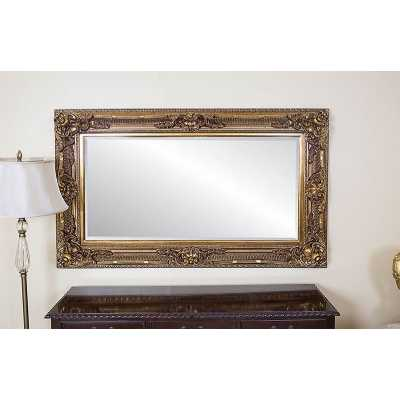 Romo Ornate Antique Style Wall Mirror with Gold Gilt Resin Frame