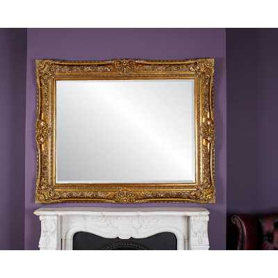 Toulouse Ornate Antique Style Wall Mirror with Gold Gilt Resin Frame