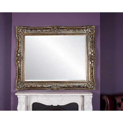 Toulouse Ornate Antique Style Wall Mirror with Silver Resin Frame