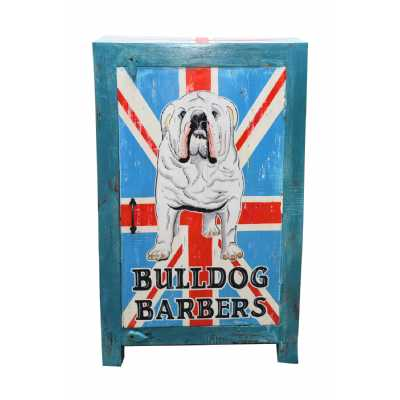 Carnival Vintage Style Painted British Bulldog Storage Cabinet Cupboard