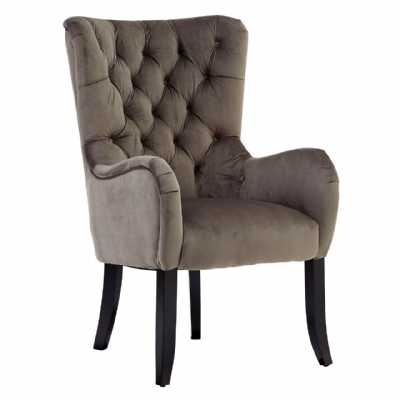 Regency Tait Mink Fabric Upholstered High Back Occasional Armchair
