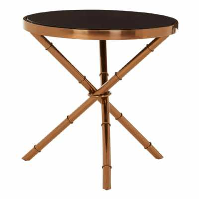 Fifty Five South Alvaro Bamboo Inspired Base Side Table