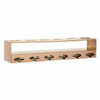 Fifty Five South Novo 6 Bottle Rose Gold Finish Wine Rack