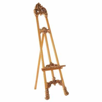Shabby Chic Marseille Small Gold Painted Decorative Ornate Easel