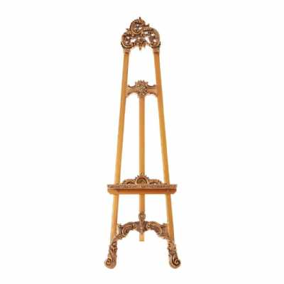 Marseille Decorative Ornate Easel Metalic Gold Painted Shabby Chic
