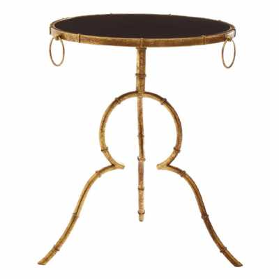 Fifty Five South Monroe Black Tempered Glass Top Accent Table