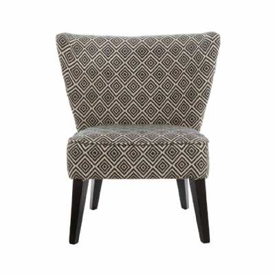 regents park geometric diamond pattern wing chair with tapered back