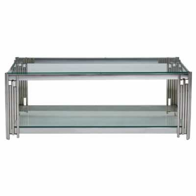 Fifty Five South Allure Silver Linear Design Coffee Table