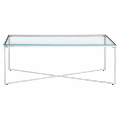 Fifty Five South Allure Silver Cross Base Coffee Table