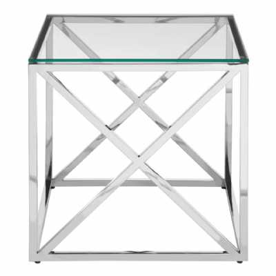 Fifty Five South Allure End Table With Cross Base