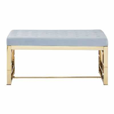 Fifty Five South Allure Grey Tufted Bench