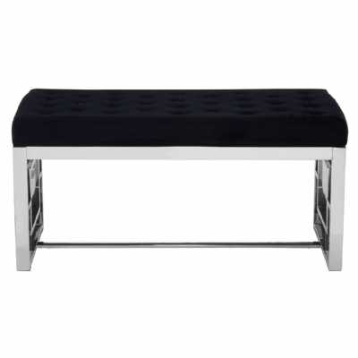 Fifty Five South Allure Black Tufted Bench