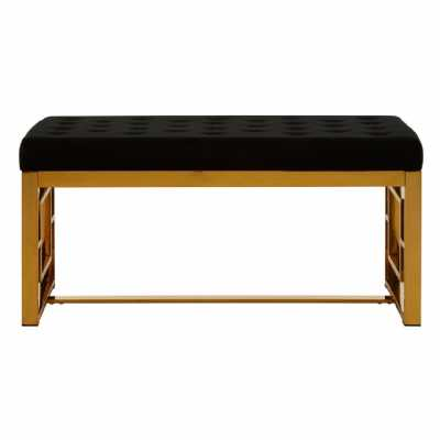 Fifty Five South Allure Black Velvet Bench