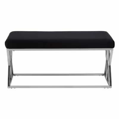 Fifty Five South Allure Black Seat Bench