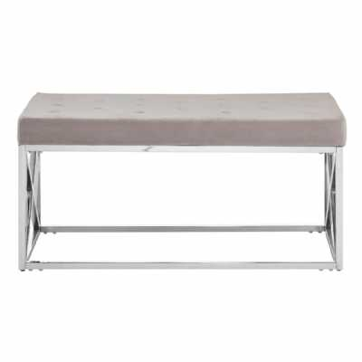 Fifty Five South Allure Mink Tufted Bench