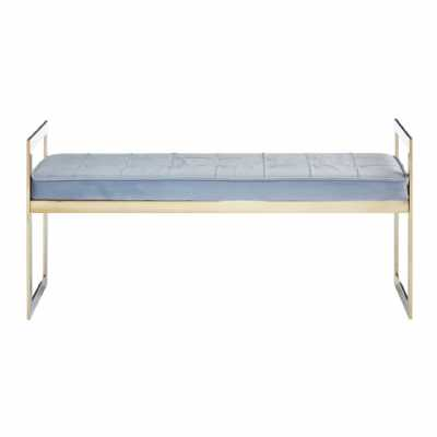 Fifty Five South Allure Grey Seat Gold Metal Frame Bench