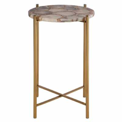 Fifty Five South Vita Natural Agate Side Table