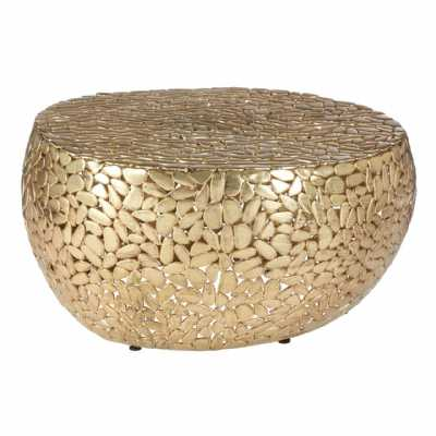 Fifty Five South Templar Brass Finish Coffee Table