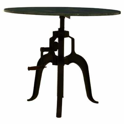 Fifty Five South Vasco 3 Leg Small Green Marble Iron Table