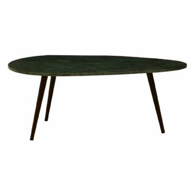 Fifty Five South Vasco 3 Leg Green Marble Top Coffee Table