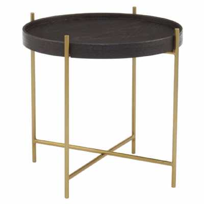 Fifty Five South Lino Large Black Gold Side Table
