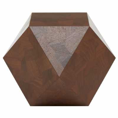 Fifty Five South Lino Walnut Side Table