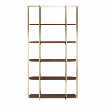 Fifty Five South Villi Walnut Wood Shelf Unit