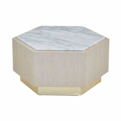 Fifty Five South Villi Small White Side Table