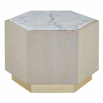 Fifty Five South Villi Large White Side Table