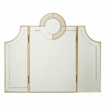 Art Deco Chic Knightsbridge Patinated Adjustable Dressing Table Mirror