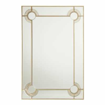 Large Rectangular Knightsbridge Silver Mirrored Glass Wall Mirror