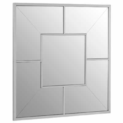 Modern Grid design Descartes Large Square Solar Effect Wall Mirror