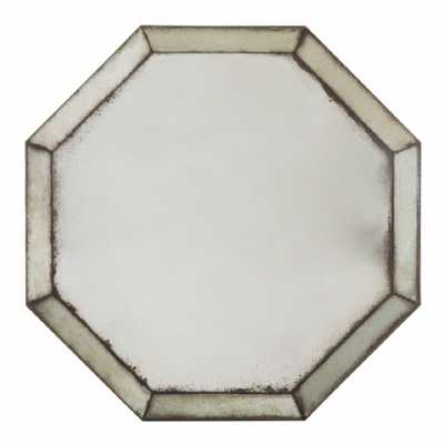 Vintage Style Riza Octagonal Antique Glass Bevelled Angled Wall Mirror