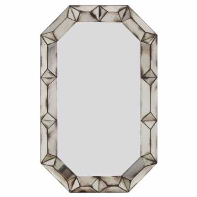 Fifty Five South Riza Rectangular 3d Frame Wall Mirror