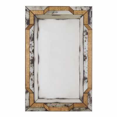 Fifty Five South Riza 3d Black Gold Finish Wall Mirror