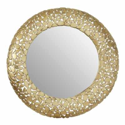 Fifty Five South Templar Pebble Effect Round Wall Mirror