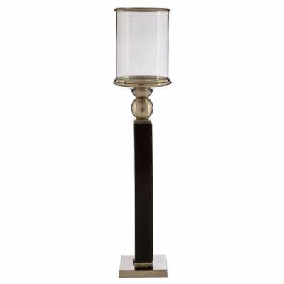 Kensington Townhouse Small Black Metal Floor Standing Candle Holder