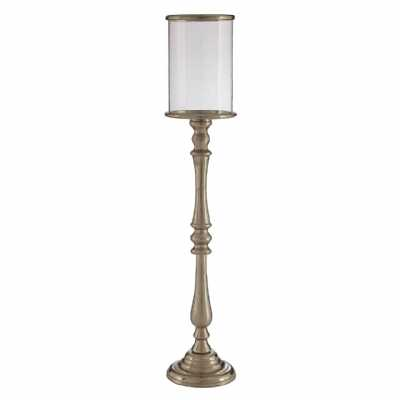 Kensington Townhouse Large Nickel Finish Candle Holder Floor Standing